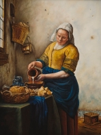 """The Milk Maid"" Copy after Vermeer"